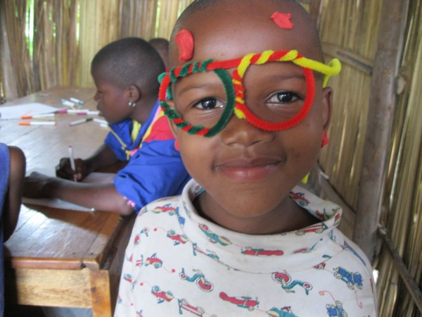pipe cleaner day at the Majengo Orphanage, Tanzania